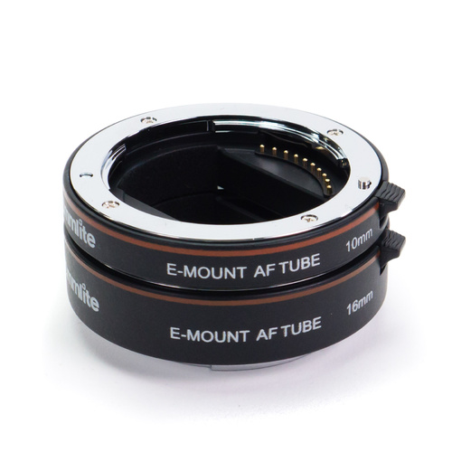 Metal AF Auto Focus Macro Extension Tube Set for Sony E-Mount Camera & Lens