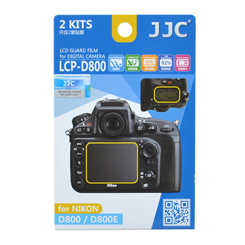 JJC 2x LCD Screen Protector Guard for Nikon D800 D800E